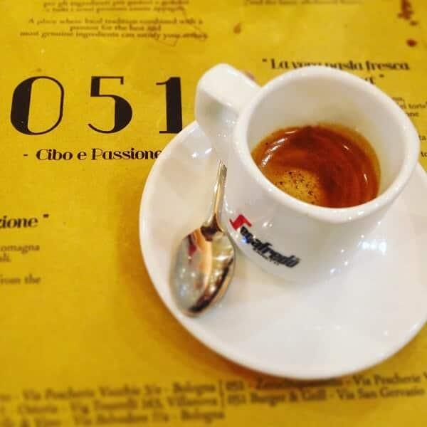 il caffè di 051 Osteria del Mercato a Bologna