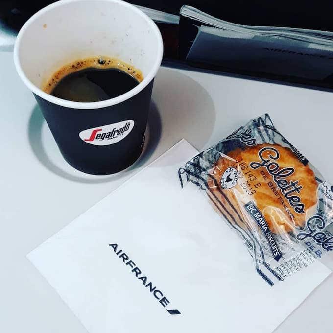 Il caffè Segafredo servito sul volo Air France Milano Linate - Parigi CDG