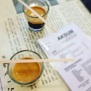 caffè bevuto da Aksum Coffee House a Bruxelles