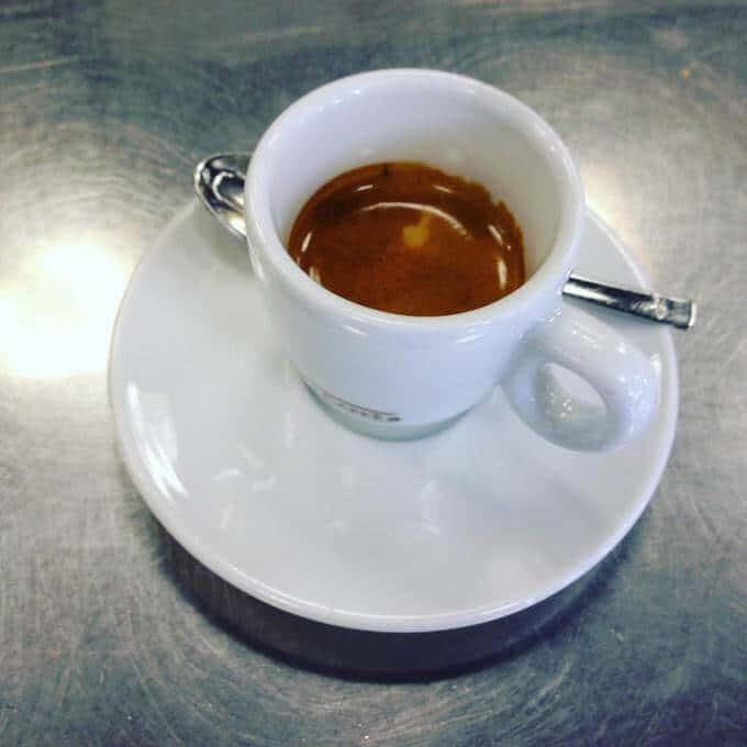 il caffè dell'Autogrill dell'area di servizio Carugate Est