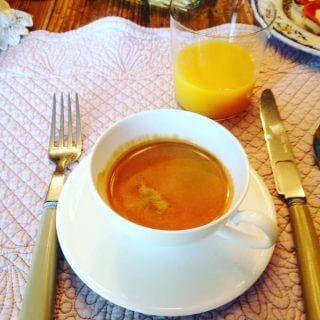 il caffè a colazione nel B&B Pieve degli Artisti a Pietrasanta