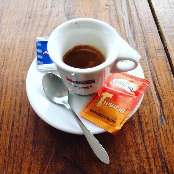 il caffè del Ristorante Bar Dalla Maddalena a Collagna (RE)