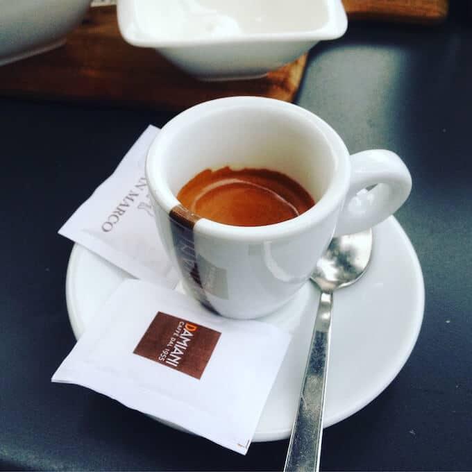 Il caffè del Bar San Marco a Sarnico (BG)