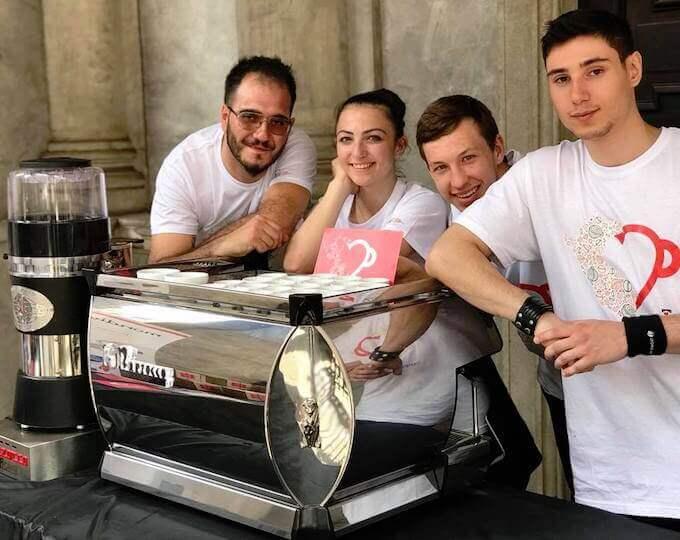 """I baristi dell'evento """"Io bevo caffè di qualità - Perù Special Edition"""" a Milano"""