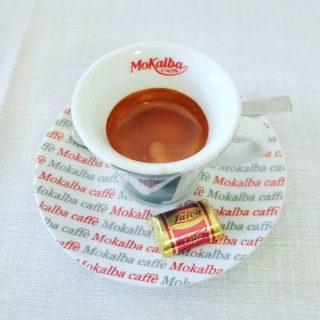 il caffè del ristorante La Biada de l'Omm a Mezzago