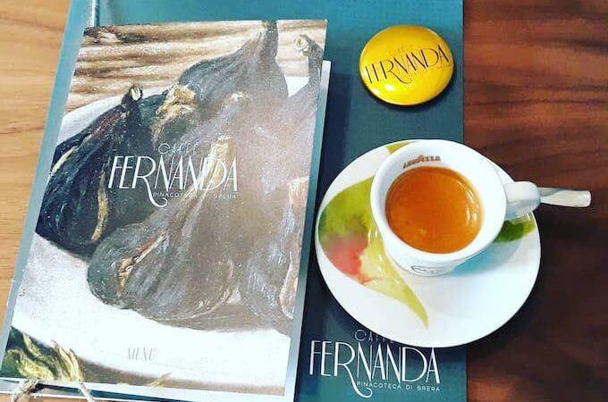 Il caffè espresso del nuovo Caffè Fernanda alla Pinacoteca di Brera