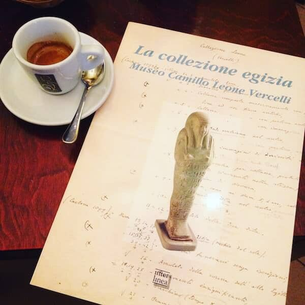 il caffè del Caffè Imperiale a Vercelli
