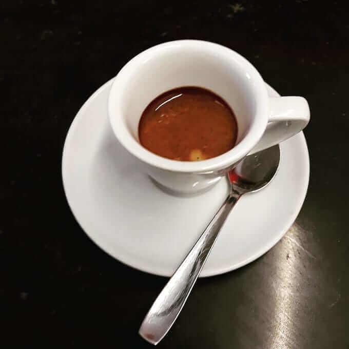 Il caffè del Caffè Nava a Verbania