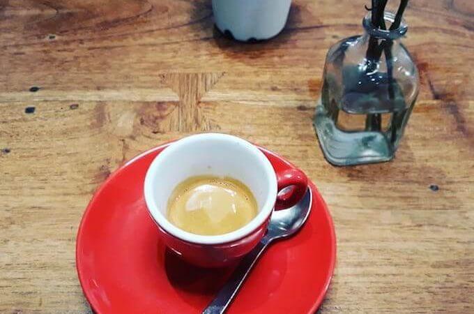 Il caffè del ristorante Caravelle a Barcellona