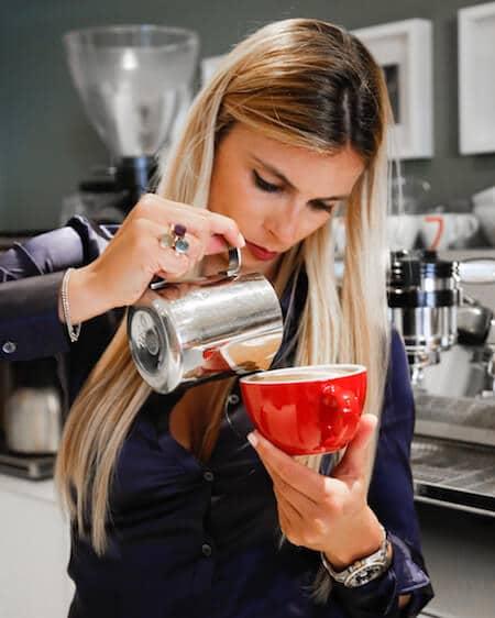 Chiara Bergonzi, campionessa di Latte Art