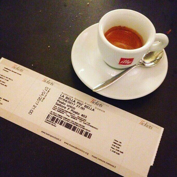 il caffè del ristorante Chiave di Bacco a Cremona