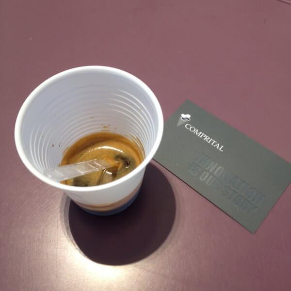 Caffè bevuto nella sede dell'Athenaeum di Comprital a Settala