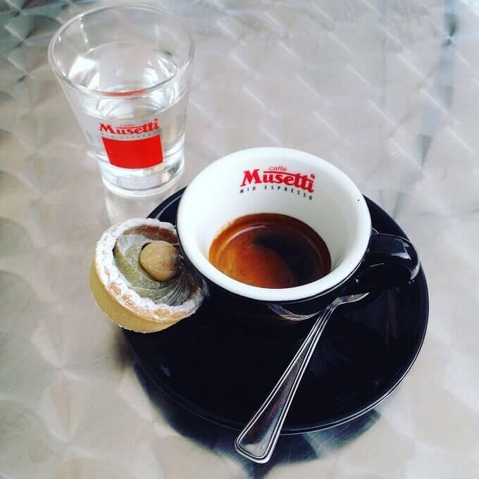 Il caffè della Caffetteria Gelateria La Golosa a Pavia