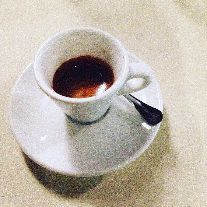 il caffè del ristorante Grape a Milano