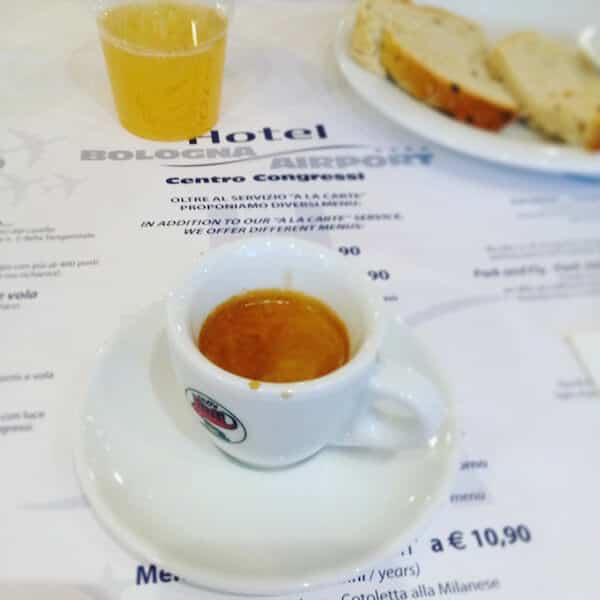 il caffè dell'Hotel Bologna Airport