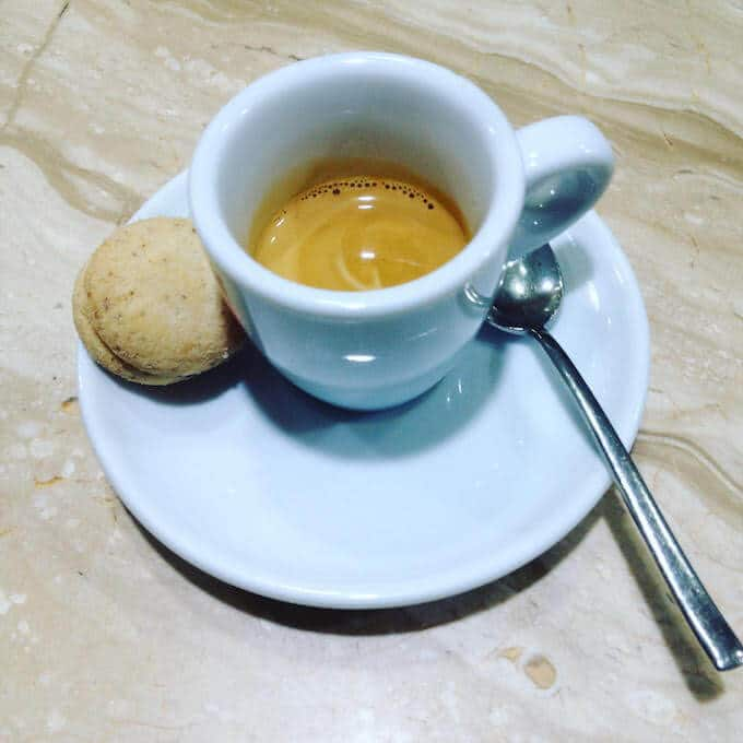 il caffè dell'Ice Cream Bar di Milano