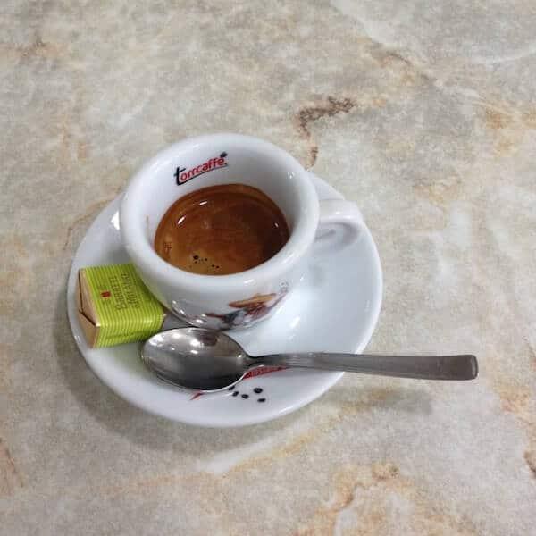 il caffè del Kakao Bar Bocciofila Tricolore di Reggio Emilia