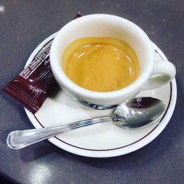 il caffè di Mondogelato al centro commerciale Il Globo di Busnago