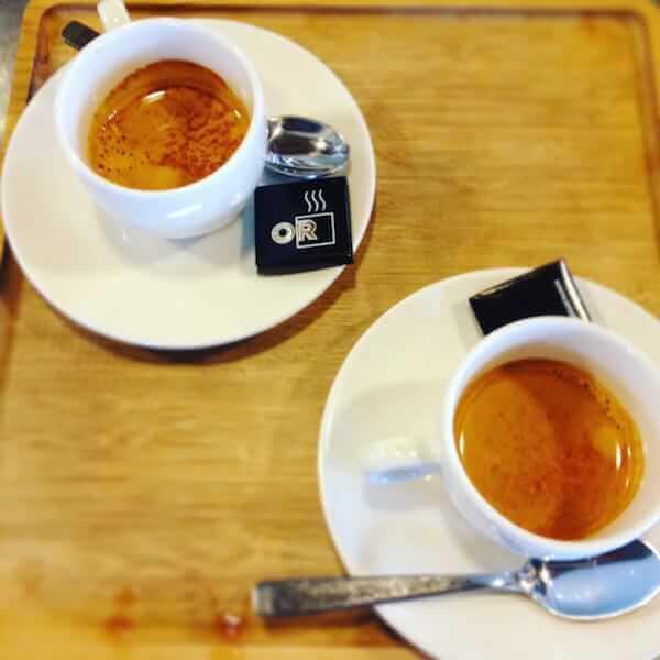 il caffè della caffetteria OR Espresso Bar a Bruxelles