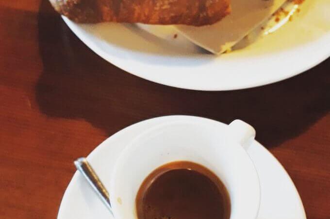 Il caffè dell'Osteria del Tram a Masate