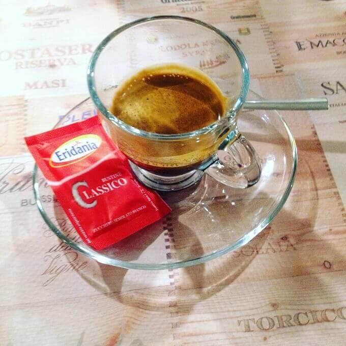 il caffè del Bar Ristorante Pizzeria Gian a Cerreto Alpi