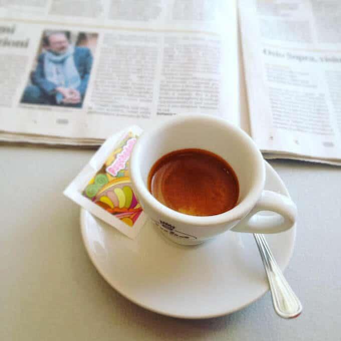il caffè del Xixi Bar di Brembate