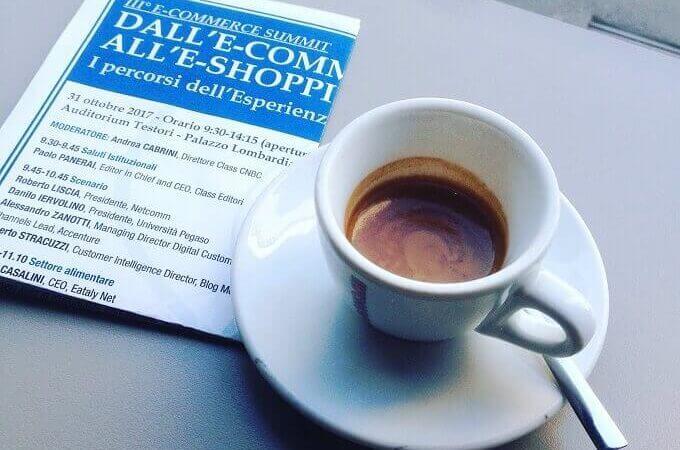 il caffè del Bar Pirelli Nove a Milano