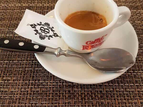 il caffè del Bukowski's Bar a Roma