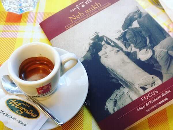 il caffè del Caffè Magnino a Biella