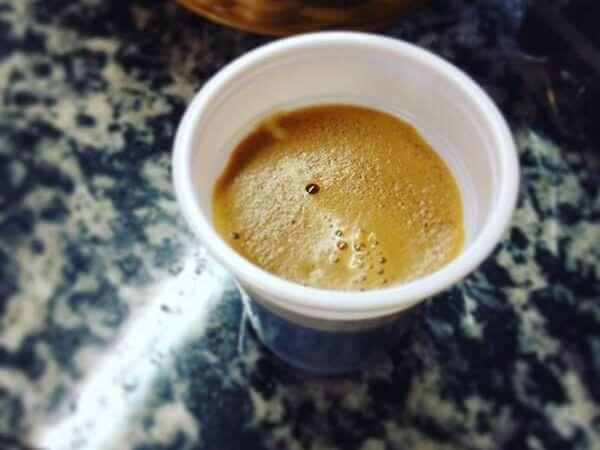il caffè del bar del Campo Sportivo di Torre Boldone