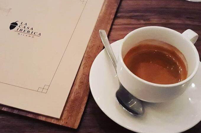 il caffè del ristorante La Casa Iberica di Milano