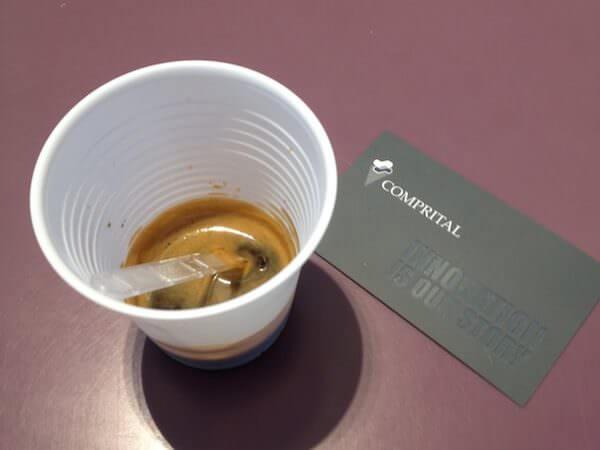 Caffè bevuto nella sede di Comprital a Settala