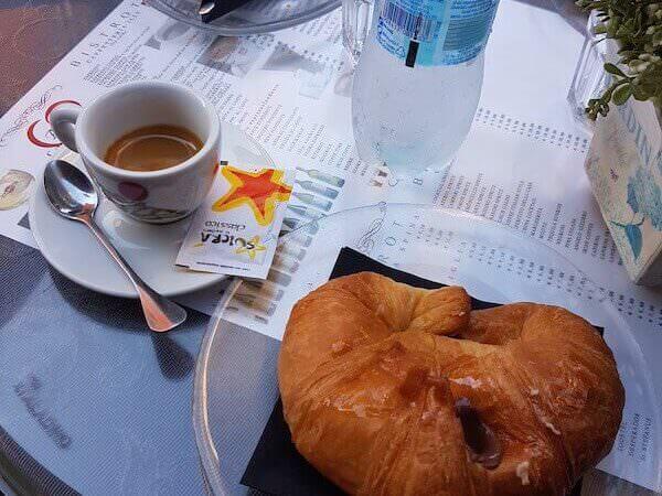 caffè bevuto alla Cremeria A&J di Roma