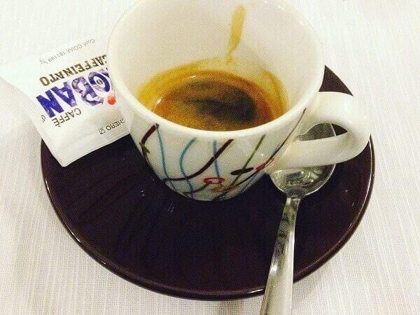 il caffè dell'Osteria del Treno a Milano