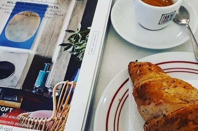 Il caffè di Panini Durini in via Manzoni 5 a Milano