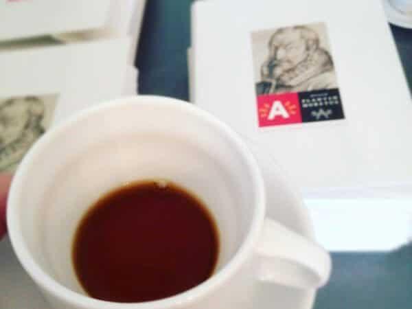 il caffè del catering del Museo Plantin - Moretus di Anversa