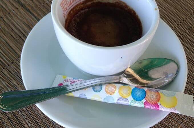il caffè del Ristorante I Quattro Mori a Marina di Pietrasanta