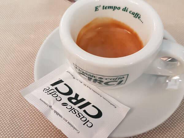 caffè bevuto al Ristorante Naumachia di Roma
