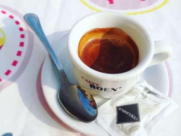 caffè bevuto al Ristorante La Rocca d'Oro di Nogarole Rocca