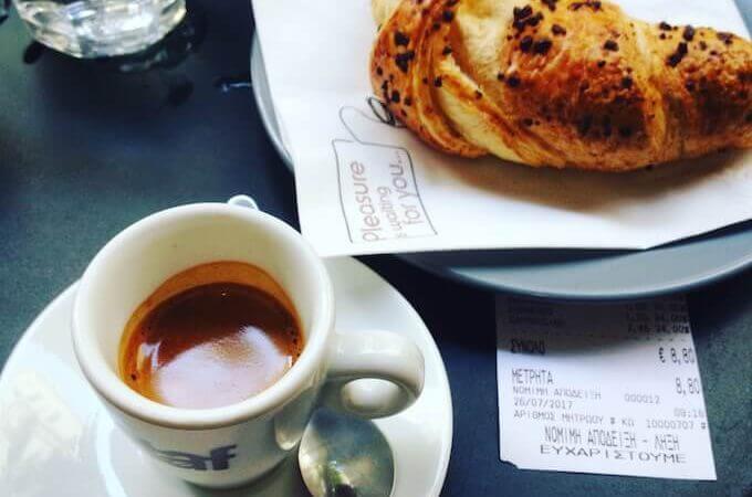 il caffè espresso di TAF Coffee ad Atene