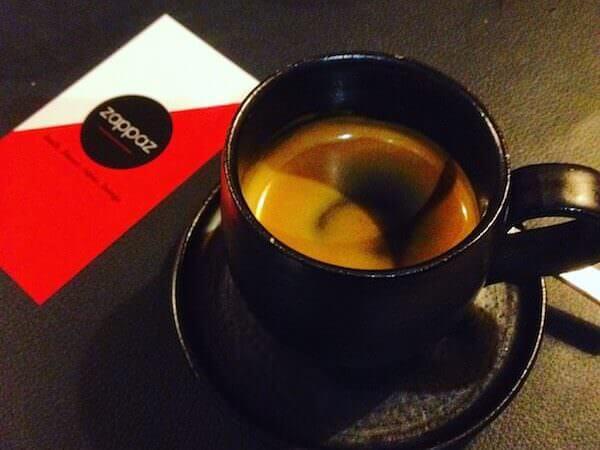 il caffè del ristorante Zappaz a Lovanio (Leuven) nelle Fiandre